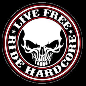 Live free ride hardcore biker sticker