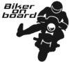 Biker on board stickers.
