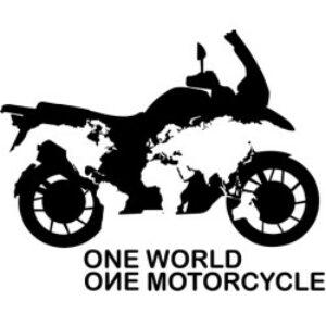 one world, one motorcyle