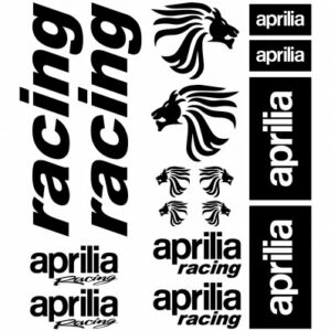 Aprilia racing stickerset
