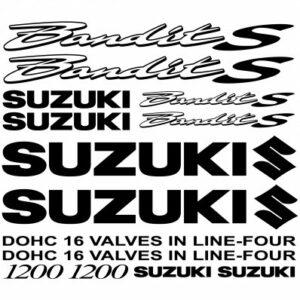 Suzuki Bandit 1200s outline stickerset