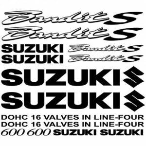 Suzuki Bandit 600s outline stickerset