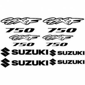 Suzuki GSXF 750 outline stickerset