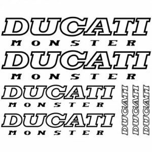 Ducati monster stickerset (outline)