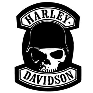 Harley Davidson skull badge