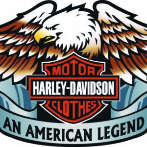 Harley Davidson clothing sticker