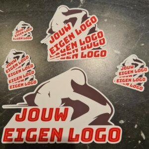 uw eigen merk/logo sponsor stickers