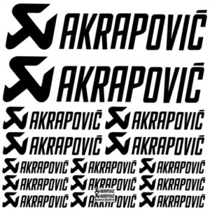 Akrapovic stickerset 2