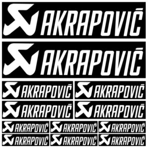 Akrapovic stickerset