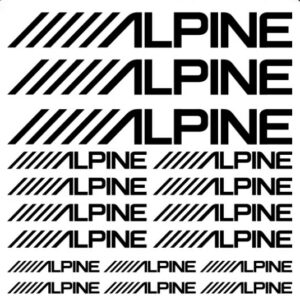 alpine stickerset