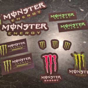 monster energy sponsor stickerset