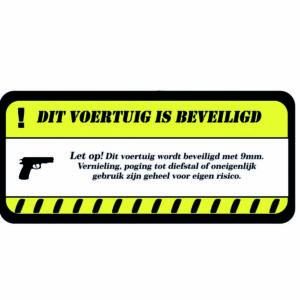 LET OP! beveiligd door 9mm