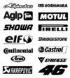 Sponsor stickers & sets