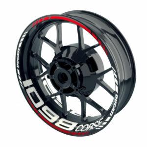 Ducati 1098 corse velg stickerset