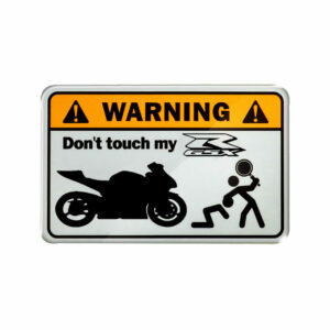 Warning, don't touch my GSXR