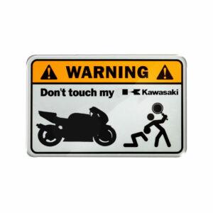 Warning, don't touch my Kawasaki