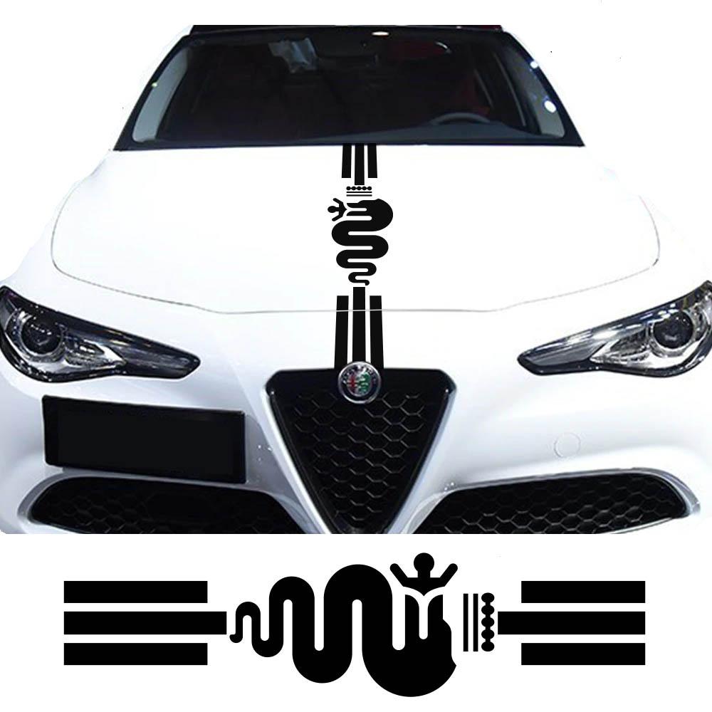 Alfa Romeo motorkap decal