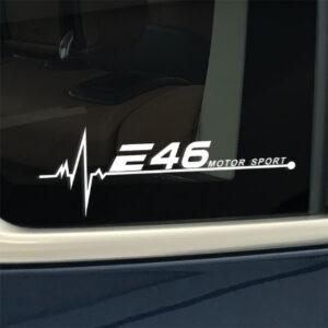 BMW e46 raamsticker