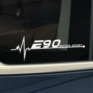 BMW e90 raamsticker