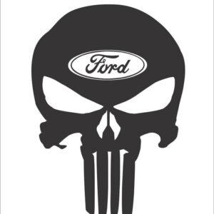 Ford skull sticker
